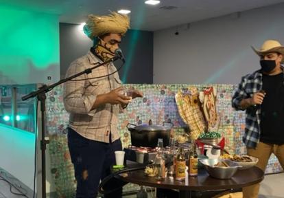 Comemoração junina online na Cedro Technologies teve live com show I Foto: Arquivo pessoal