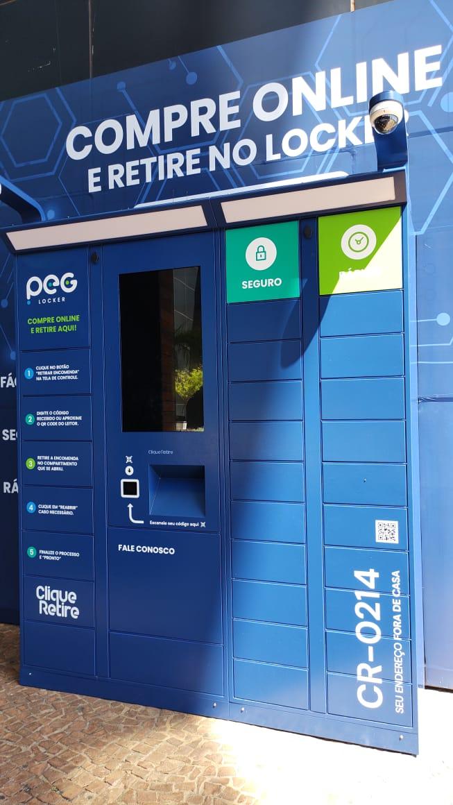 Loja Artex proporcionou nova experiência aos clientes ao disponibilizar produtos em lockers   Foto: Divulgação