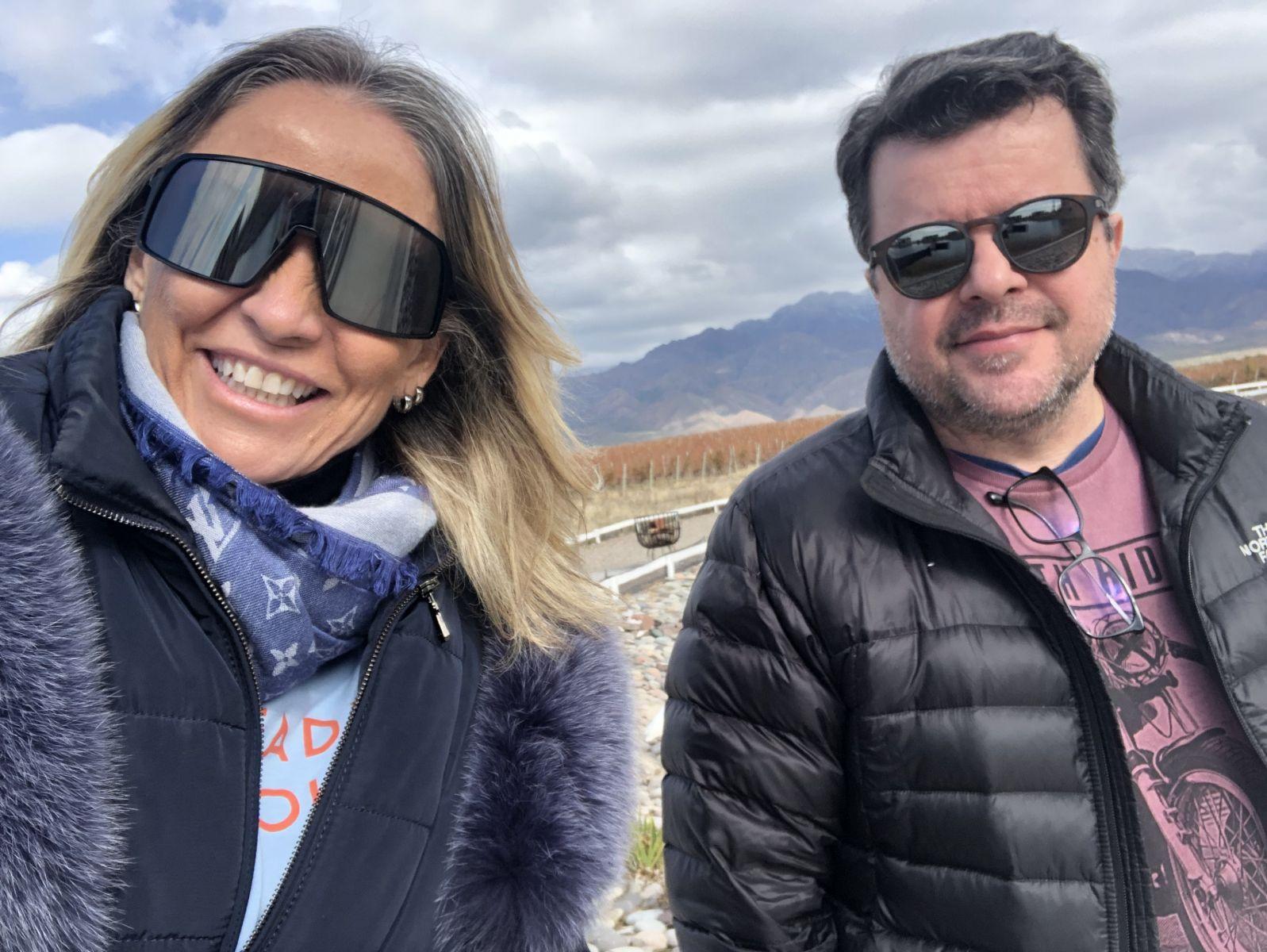 Queridíssima Aleida Cardoso e o marido, Luís Fernando Romeiro / Foto: Divulgação